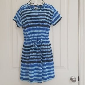 NWOT GAP Charlotte Tee Navy Stripe Dress